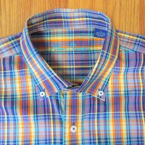 ALAN FLUSSER REGULAR FIT 100% COTTON PLAID SHIRT